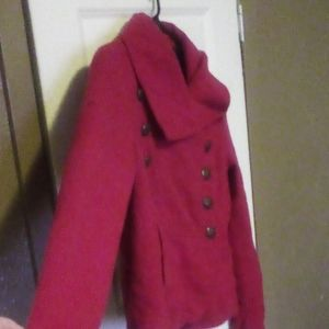 Red Military Peajacket